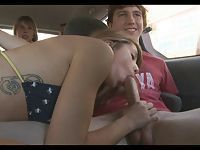 Teen Blowjob In Car