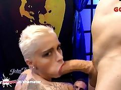 Busty Tattooed Babe Mila Milan first Monster Cock - GGG