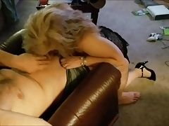 Blonde Hotwife blowing stranger from Craigslist