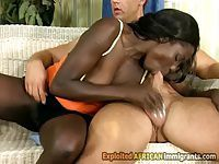 Black babe works out her coachs big cock