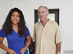 Busty Ebony Jenna J. Foxx Fucks Old Men