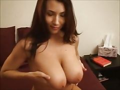 Naturally Endowed Girlfriend Sucks and Fucks