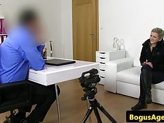 Real casting czech doggystyled by fake agent
