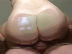 Wifes juices on glass, fuck & orgasm lick