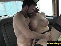 Busty british cabbie fingered and fucked