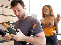 Wine Consultant Kinsley Karter Takes James Deen Cock