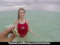 TeensLoveMoney - Lifeguard Gets Fucked on Duty