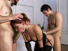 Juicylicious Marina loves gets assfucked by Artir and Vagin