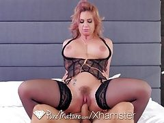PureMature - Busty Phoenix Marie slobbers all over dick