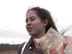 Public Agent Wet Russian Spreads Legs For Cash