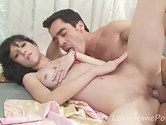 Brunette angel loves her mans big dick