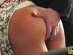 British sub skank railed cowgirl in stockings