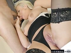 MILF Katy fucks her way to a carloan from her stepbro
