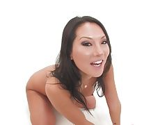 Sexy Asa Akira gets a dick and a fist in her ass