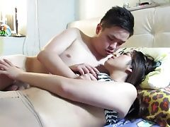 Asian couple leaked sex tape