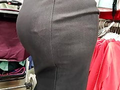 Big butts milfs in tight skirts
