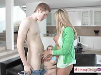 Milf Brandi Love doggystyled during taboo ffm