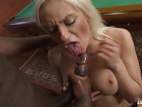 La Novice - Blonde French newbie gets BBC on the pool table