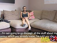 FakeAgentUK Big fat dick is too much for ebony babes ass