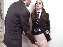 Late Schoolgirl Gets Punished