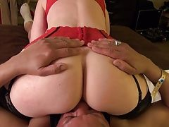 Nina Hartley teaches cunt sucking riding old dudes face