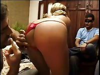 Husband Watch his Tanned Wife fucked by other guy