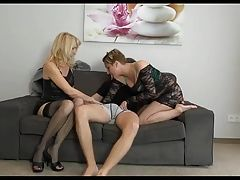 2 Matures Share His Cum