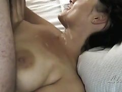 early morning cum facial