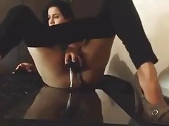 Pussy gets extra creamy after she fucks herself