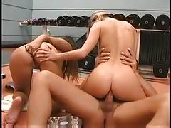Teen duo ass fuck in store