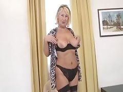 Granny Regina T. Stripping And Masturbating