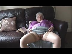 Granny with massive boobs and hairy pussy