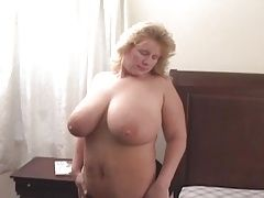 BBW blonde busted out by two BBCs