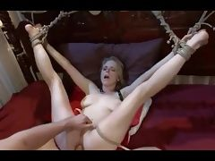 Cute girl bound and fucked hard