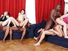 Four Wild Sluts Fill Every Single Hole with BBC and Toys