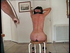 slave is whipped hard