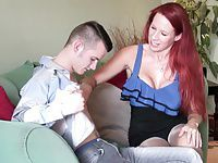 Busty mom suck and ride son s big cock