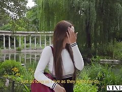 VIXEN Teen Lives Out Fantasy Of Being Dominated By Older Man