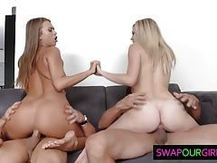 Swapping horny daughters