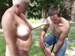 one hot day with a granny at the river