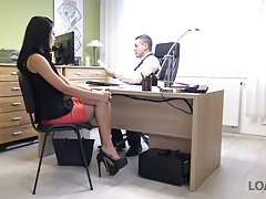 LOAN4K. Sweet thing Inga gives her body to loan agent for