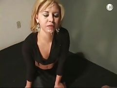 humiliated slapping cum on face and pissed