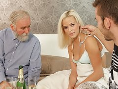 DADDY4K. Naughty dad dragged sons girl into unexpected...