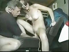 Old man, young girl and a Dildo