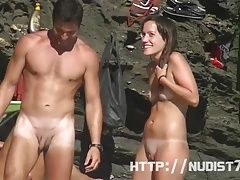 Tempting pussy and ass shots by a nude beach voyeur