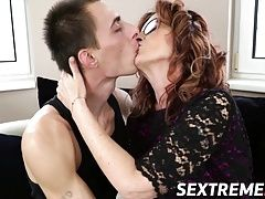 Horny guy Levy drills a sophisticated granny Mayna wildly