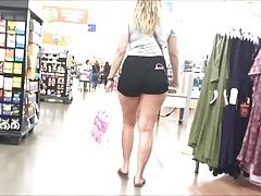 Beautiful Pawg in Black Shorts, Thick Thighs