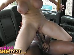 Female Fake Taxi Busty blonde creampied by criminal