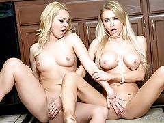 Watch Alix and Aaaliyah eat each others tiny wet pussy
