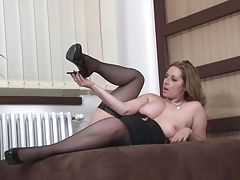 Sexy mature mother with very hungry vagina